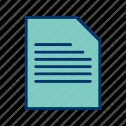 data, database, document, folder icon