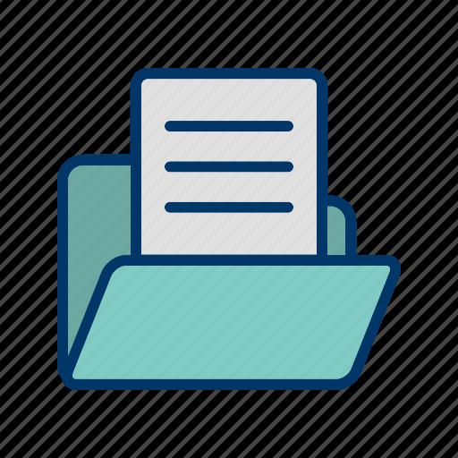 data, document, folder, paper, storage icon