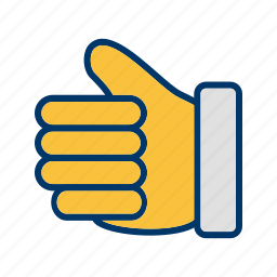 good luck, hand, like, thumbs up icon
