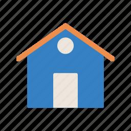apartment, estate, home, house, real, villa icon