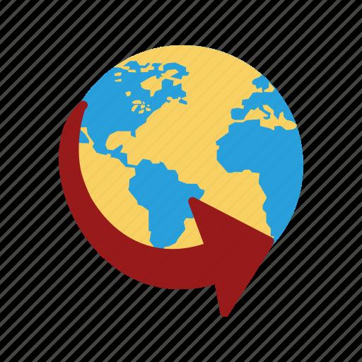 around the world, globe, travel icon