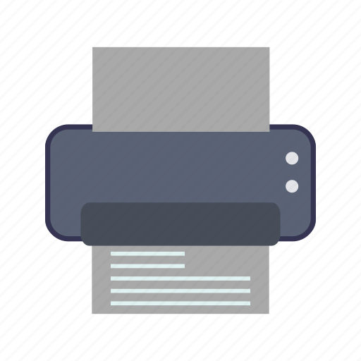 device, fax, office, print, printer, printout icon