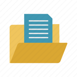 document, documents, extension, folder, format, in, page icon