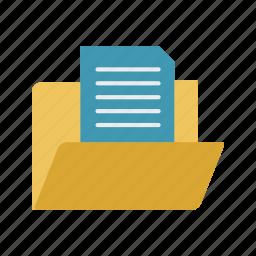 data, document, document in folder icon