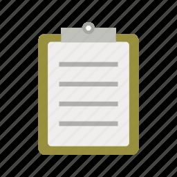 checklist, clipboard, list, report, task icon