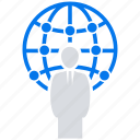 communities, networks, online, social market, web, web page icon