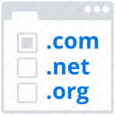 domain, online, registration, social market, web, web page icon