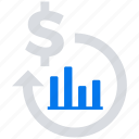 investment, on, online, return, social market, web, web page icon