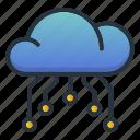 cloud, computing, data, web hosting icon