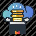 box, cloud, data, storage, web hosting icon