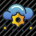 cloud, database, generator, web hosting icon