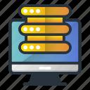 center, data, database, server, web hosting icon