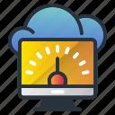 fast, internet, speed, web hosting icon