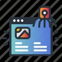 malware, page, virus, web hosting icon
