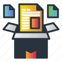 box, data, unstructured, web hosting icon
