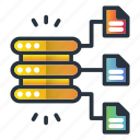 data, files, server, structured, web hosting icon
