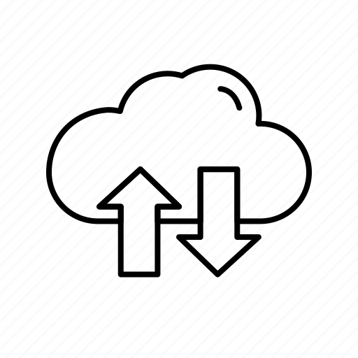 cloud, data, download, server, upload icon