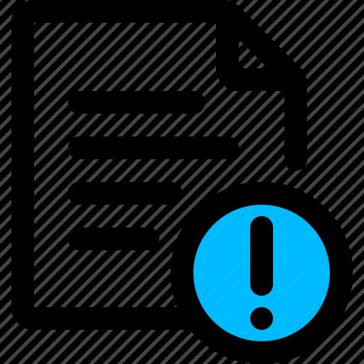 error, exclamation, page, web, website icon
