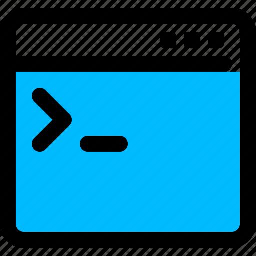 access, code, console, ssh icon