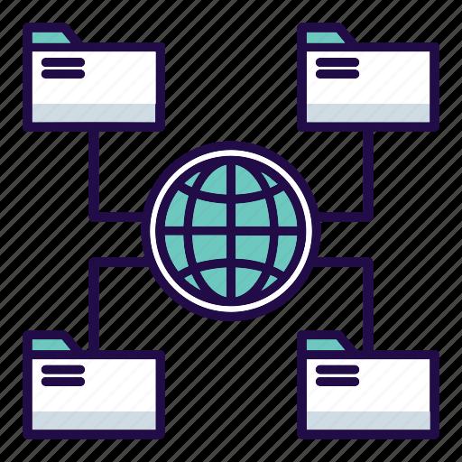 cloud, database, hosting, internet, media, server, storage icon