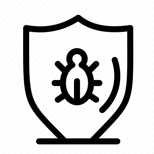 Bug, programing, protect, protection, shield icon - Download on Iconfinder