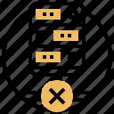 denied, disconnect, error, fault, unavailable icon