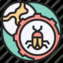 bug, debug, fix, malware, service icon