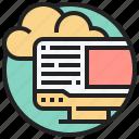 cloud, computing, online, processing, storage