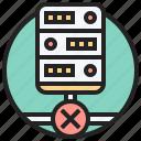 denied, disconnect, error, fault, unavailable