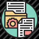 archive, database, documents, file, folder