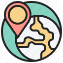 communication, cyberspace, global, location, network icon