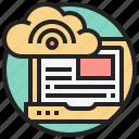 hosting, internet, provider, server, service icon