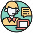 chat, contact, help, question, support icon