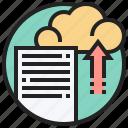 cloud, service, storage, transfer, upload icon