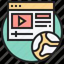 browser, internet, multimedia, online, website icon