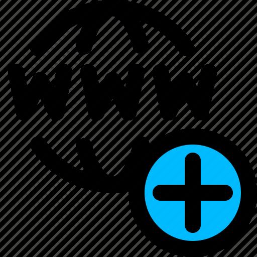 add, domain, weblink, website icon