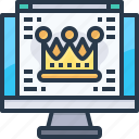 browser, crown, host, main page, premium, web, website icon