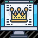 browser, crown, host, main page, premium, web, website