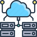 cloud, data, database, networking, online, storage