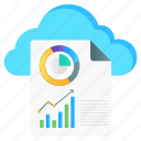 cloud, reporting, cloud reporting, cloud chart, cloud infographic, cloud business, digital storage icon