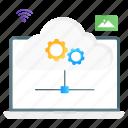 cloud, services, cloud computing, cloud services, cloud internet, wireless connection, cloud settings icon