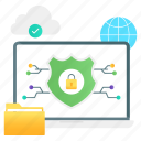 cybersecurity, network protection, cloud protection, encryption, computer security icon
