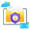 data, protection, data safety, data protection, folder lock, folder protection, documents protection icon
