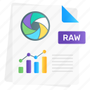 raw, data, raw data, data file, business document, file format, data analytics icon