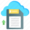 save, cloud, cloud memory, cloud storage, save to cloud, cloud backup, upload data icon