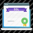 ssl, certificate, ssl certificate, online certification, web achievement, web certificate, web diploma icon