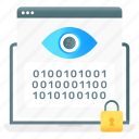 website, encryption, web monitoring, website encryption, web visualization, web coding, web security icon
