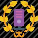 award, data, data storage, hosting, network server, web icon