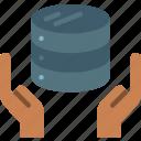 data, data storage, database, hosting, network server, protection, web icon