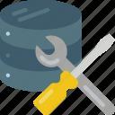 data, data storage, database, hosting, maintenance, network server, web icon
